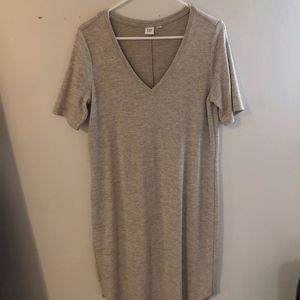 Gap Jersey V-Neck Dress: Medium Tall